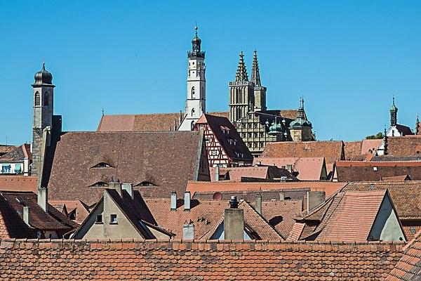 城壁の上から見たローテンブルク